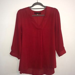 Rose & Olive Red Blouse